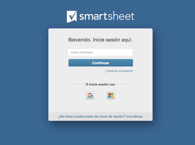 inicio y cierre de sesión artículos de ayuda de smartsheet