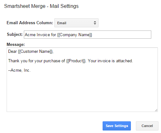 You Can Type Merge Fields Into The Subject Line And Message Body To Include Values From Row Just Like Using Within Google Doc