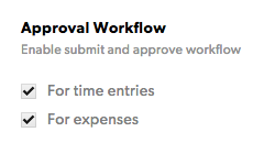 Approval workflow options