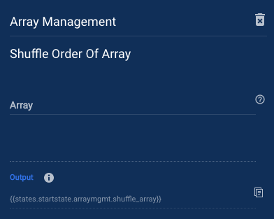 Shuffle Order of Array