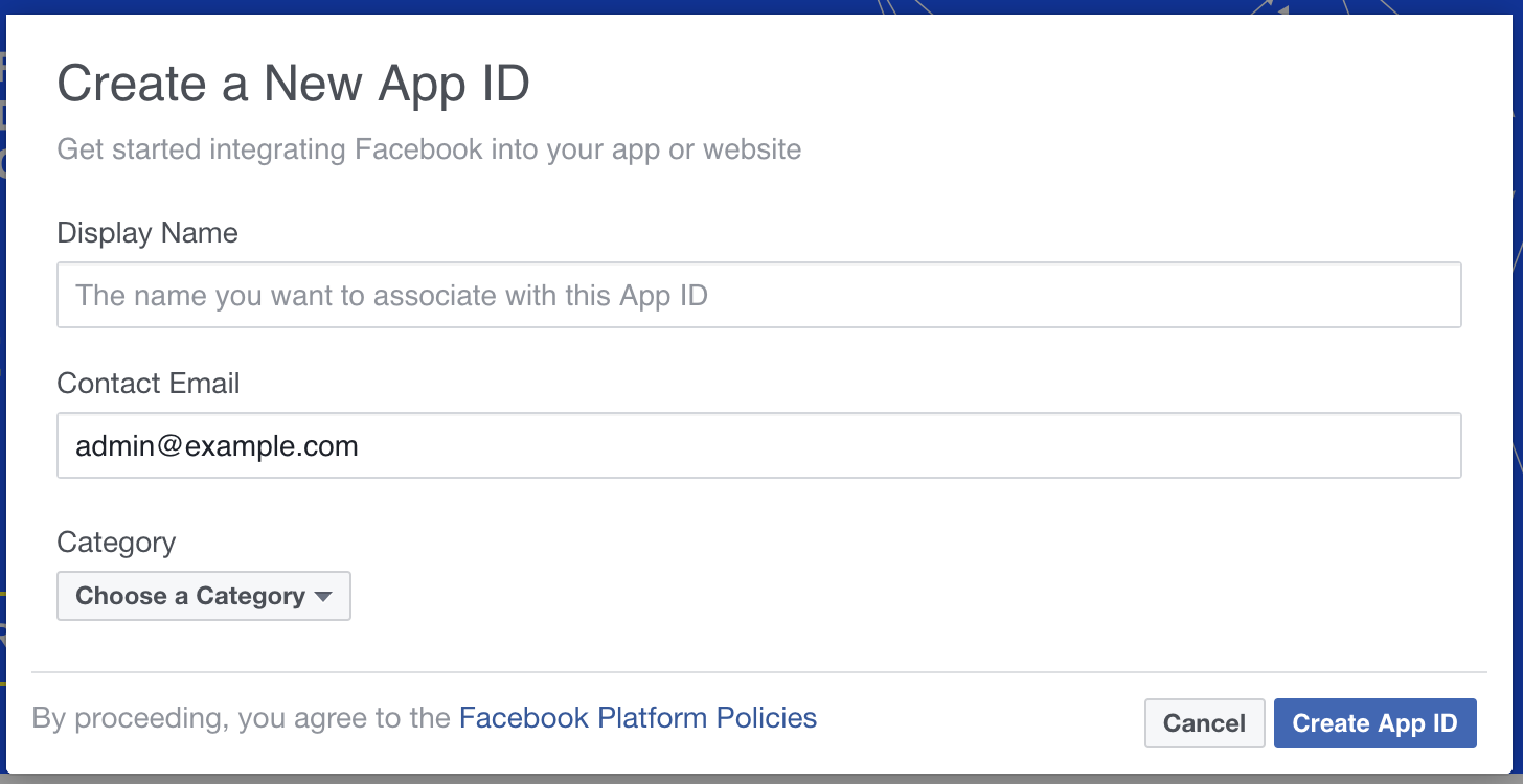 Create App in Facebook