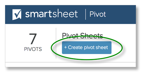 Create Pivot Sheet button