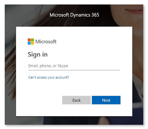 dynamics sign in microsoft