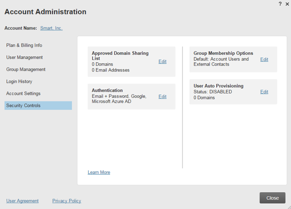 Account Administration Form