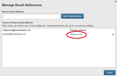 Manage Email Addresses