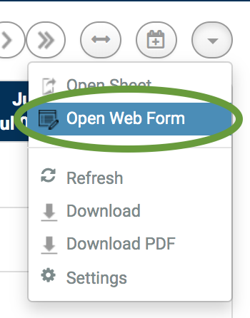 Open Web Form command in Calendar App