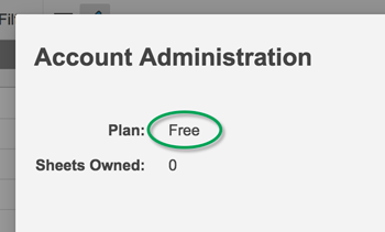 Account Admin Plan Type Free