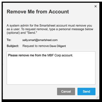Leave Your Current Smartsheet Account | Smartsheet Learning Center