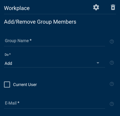 Workplace Add and Remove Group Member fields