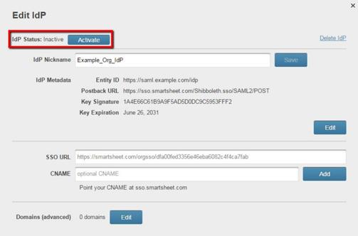 Set Up SAML 2 for Single Sign-On to Smartsheet | Smartsheet