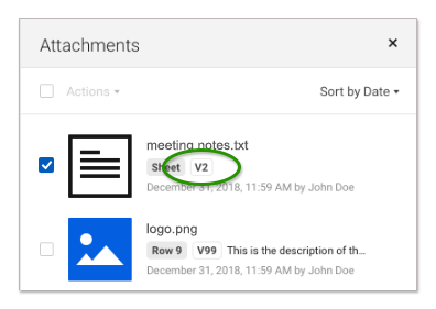 Keep File Attachments Current | Smartsheet Learning Center