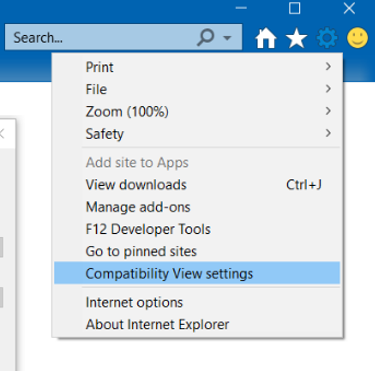 IE Compatibility Mode Settings