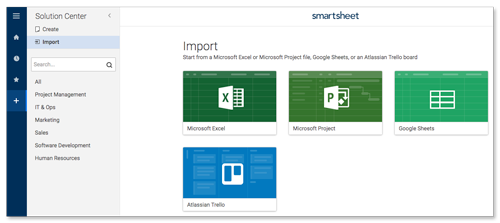 Import Files to Create New Sheets   Smartsheet Learning Center