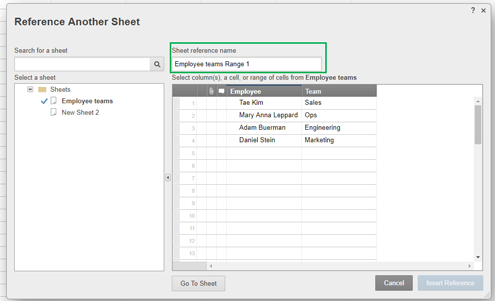 Formulas: Reference Data from Other Sheets | Smartsheet Learning Center