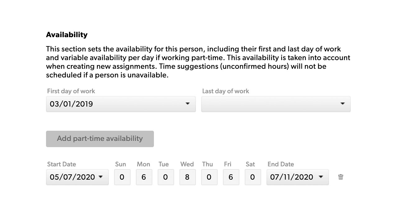 People availability