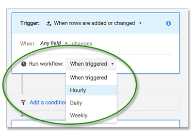 run workflow dropdown
